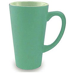 Funnel Style Two-tone Green/ Light Green 16-oz Ceramic Mug