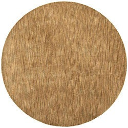 Hand-tufted Brown Abstract Wool Rug (8' Round)
