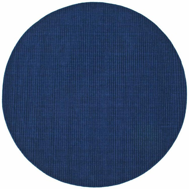 Hand-tufted Blue Stripe u0026#39;Pulseu0026#39; Wool Rug (8u0026#39; Round) - 13283920 ...
