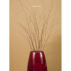 Bamboo 47-inch Cylinder Vase with Dried Botanicals