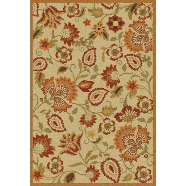 Safavieh Handmade Blossom Paisley Beige Wool Rug (5' x 8')