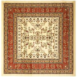 Safavieh Lyndhurst Collection Ivory/ Rust Rug (8' Square)