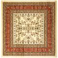 Lyndhurst Collection Ivory/ Rust Rug (8' Square)