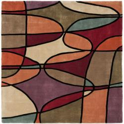 Handmade Rodeo Drive Tiff Multicolor N.Z. Wool Rug (6' Square)
