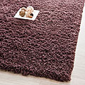 Hand-woven Bliss Chocolate Shag Runner (2'6 x 4')