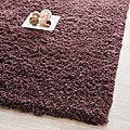 Hand-woven Bliss Chocolate Shag Runner (2'3 x 6')