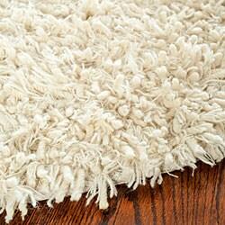 Safavieh Hand-woven Posh Ivory Wool Shag Rug (3' x 5')