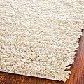 Safavieh Hand-woven Posh Ivory Wool Shag Rug (8' Square)