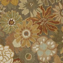 Safavieh Handmade Soho Gardens Brown/ Multi N. Z. Wool Rug (6' Square)