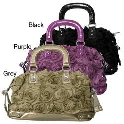 Adi Designs Women's Rosette Chiffon Shopper Handbag