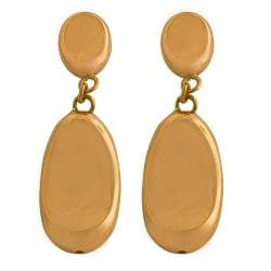 Fremada Rose Gold over Silver Electroform Oval Beads Earrings