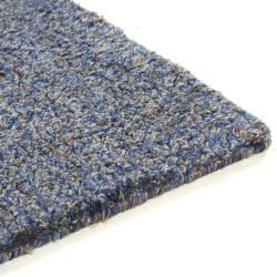 Hand-tufted Mandara Blue New Zealand Wool Rug (6' x 9')