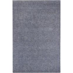 Hand-tufted Blue New Zealand Wool Rug (8' x 10')