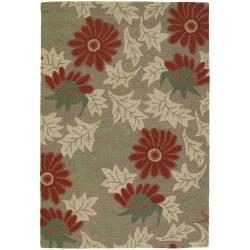 Hand-tufted Mandara Green New Zealand Wool Area Rug (9' x 13')