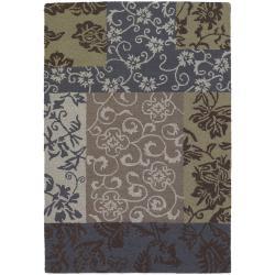 Hand-tufted Mandara Multi-color New Zealand Wool Rug (9' x 13')