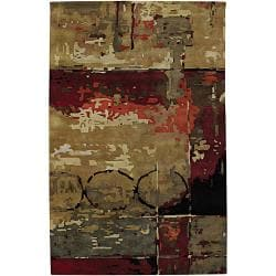 "Hand-Tufted Mandara Multicolor Contemporary New Zealand Wool Rug (7'9"" x 10'6"")"