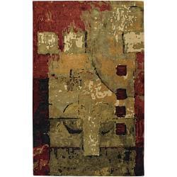 "Hand-Tufted Mandara Multicolored New Zealand Dense Wool Rug (5' x 7'6"")"