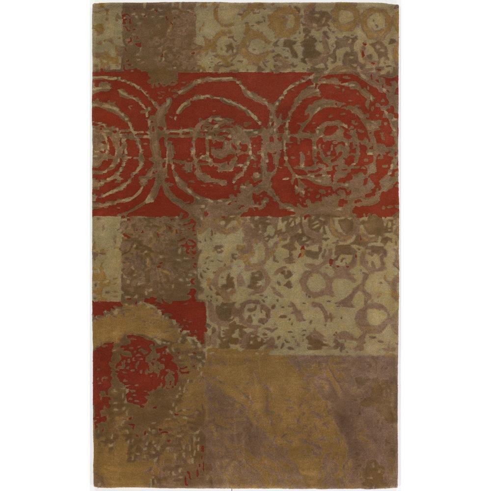 Large Hand-tufted Mandara Multi New Zealand Wool Rug (9' x 13')