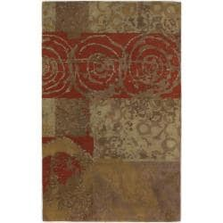 Large Hand-tufted Mandara Multi New Zealand Wool Rug (9' x 13')
