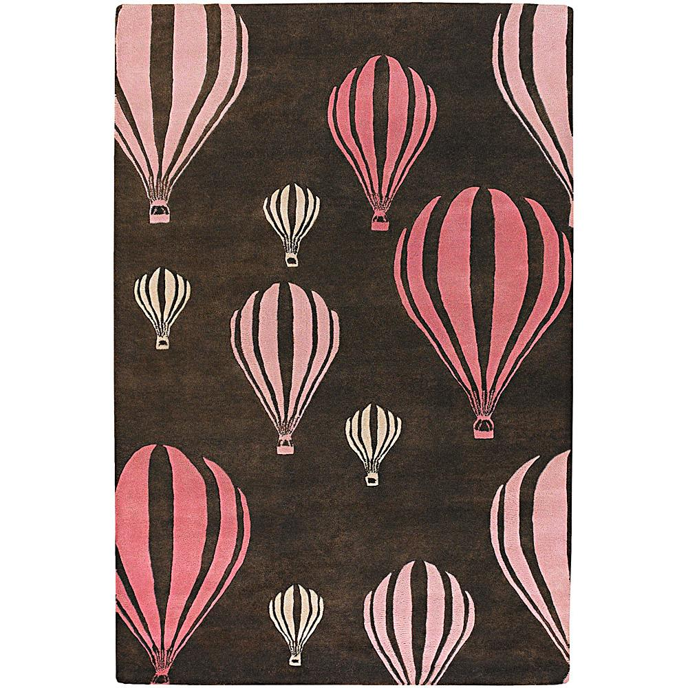 "Novelty Hand-Tufted Mandara Brown/Pink New Zealand Wool Rug (7'9"" x 10'6"")"
