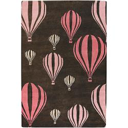 Novelty Hand-Tufted Mandara Brown/Pink New Zealand Wool Rug (7'9