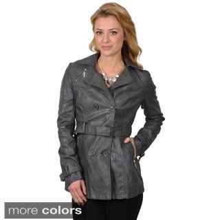 Ci Sono by Adi Juniors Double-breasted Belted Jacket