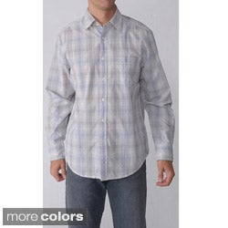 Reunion Men's Long-sleeve Plaid Sport Shirt
