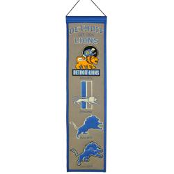 Detroit Lions Wool Heritage Banner