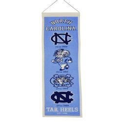 North Carolina Tar Heels Wool Heritage Banner