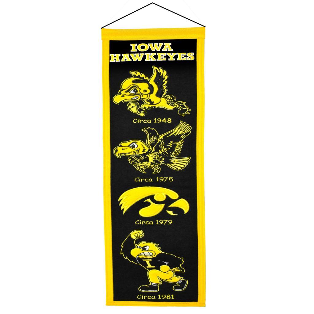 Iowa Hawkeyes Wool Heritage Banner