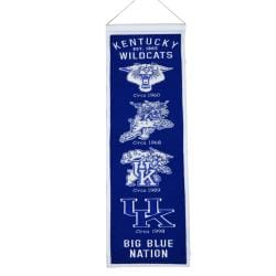 Kentucky Wildcats Wool Heritage Banner