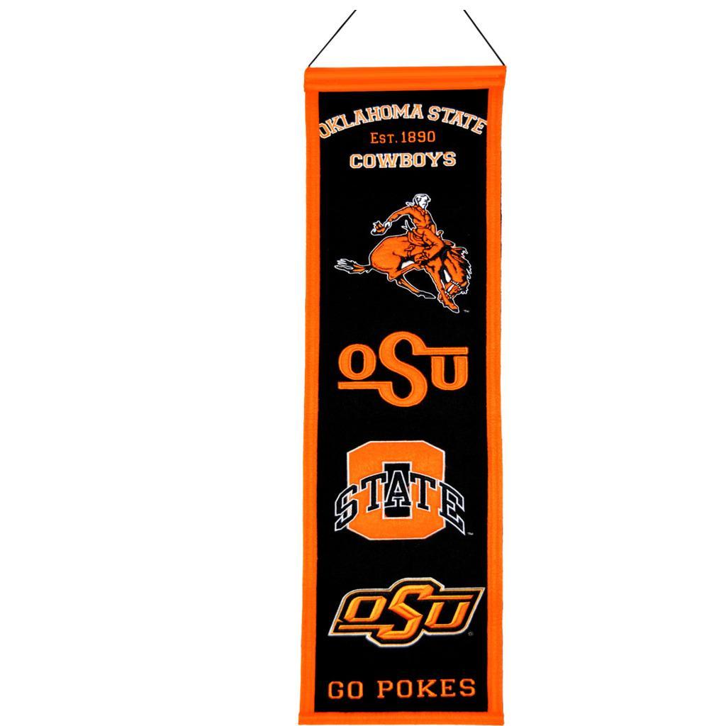 Oklahoma State Cowboys Wool Heritage Banner