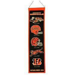Cincinnati Bengals Wool Heritage Banner