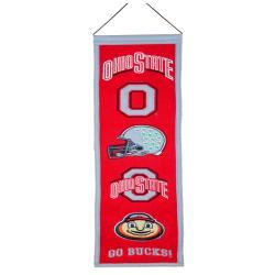 Ohio State Buckeyes Wool Heritage Banner