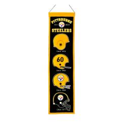 Pittsburgh Steelers Wool Heritage Banner
