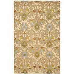 Safavieh Handmade Moroccan Cambridge Paradise Moss Green Wool Rug (5' x 8')