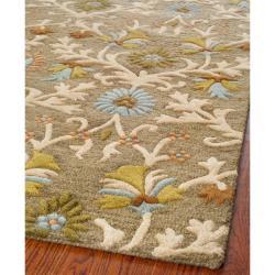 Safavieh Handmade Moroccan Cambridge Paradise Moss Green Wool Rug (8' x 10')