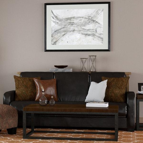 Portfolio Trace Convert-a-Couch Brown Renu Leather Futon Sofa Sleeper