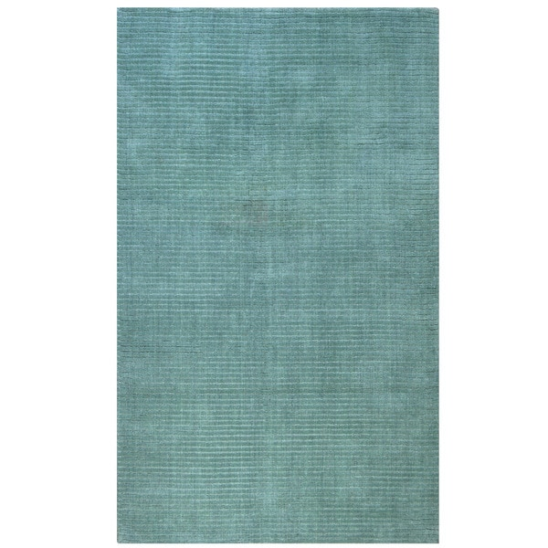 Hand-tufted Blue Wool Rug (8' x 10')