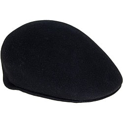 Ferrecci Men's Black Wool Driver's Cap