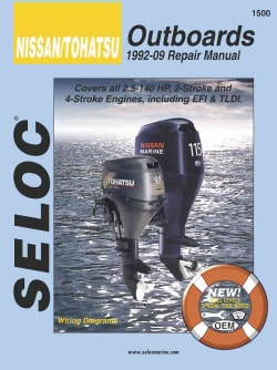 Nissan/Tohatsu Outboards 1992-09 Repair Manual: All 2-Stroke & 4-Stroke Models (Paperback)