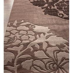 nuLOOM Handmade Pino Collection Brown Rose Fantasy Rug (5' x 8')