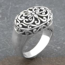 Sterling Silver Ornamented 'Cawi' Ring (Indonesia)