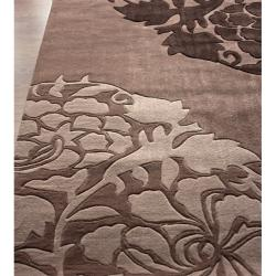 nuLOOM Handmade Pino Collection Brown Rose Fantasy Rug (7'6 x 9'6)