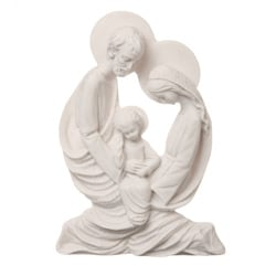 White Bonded Marble Holy Family Wall Plaque