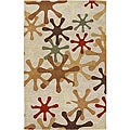 Hand-tufted Whimsy Off White Wool Rug (8' x 11')