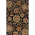 Hand-tufted Whimsy Black Wool Rug (8' x 11')