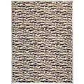 Loomed Brown Stripe Rug (7'6 x 10'6)