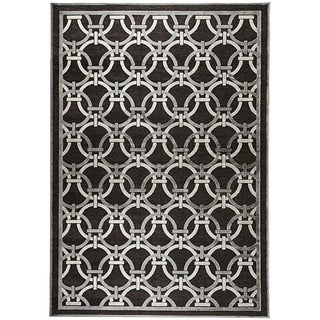 Loomed Basilica Grey Geometric Rug (7'6 x 10'6)