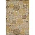 Meticulously Woven Circles Geometric Abstract Rug (7'6 x 10'6)